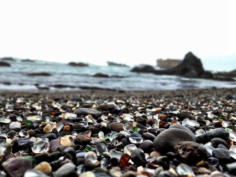 Glass Beach in Fort Bragg, Ca
