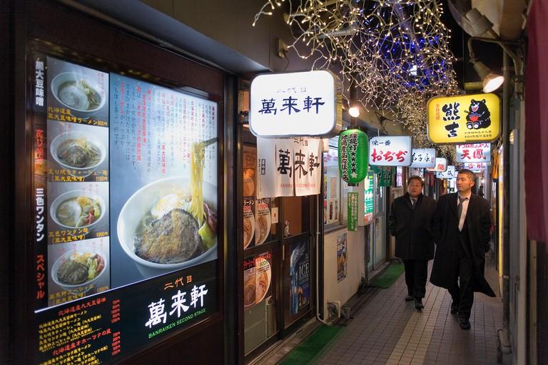 Ramen Alley, Sapporo, Hokkaido, Japan.