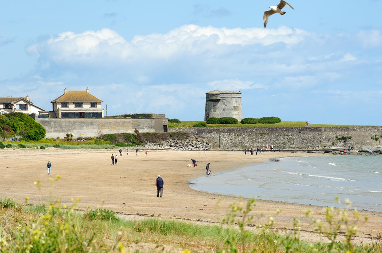 Skerries, Ireland-  View on the  beach at Skerries town, county Dublin, Ireland