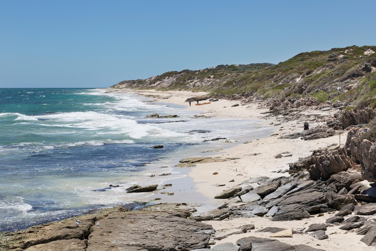The coastline a little to the north of Burns Beach, Perth, Western Australia