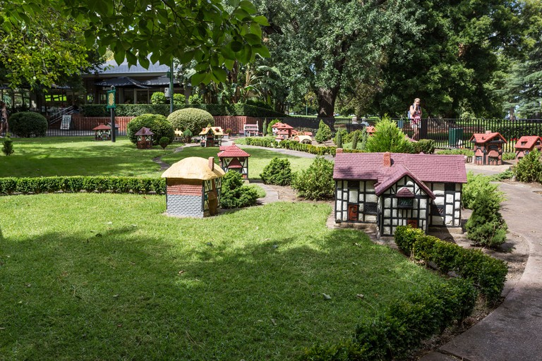 Miniature Tudor Village, a major tourist attraction in Fitzroy Gardens, Melbourne