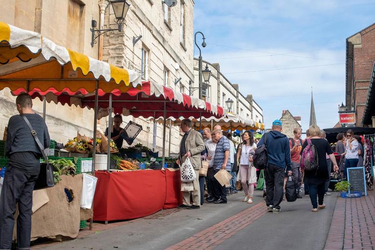 Stroud farmers market. Stroud, Gloucestershire, England