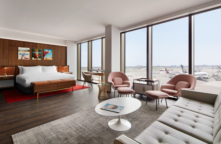 TWA Hotel Howard Hughes Suite with Runway View