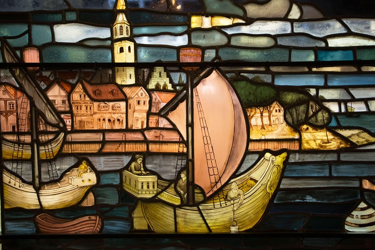 Stained Glass in the Merchant Adventurers Hall, York
