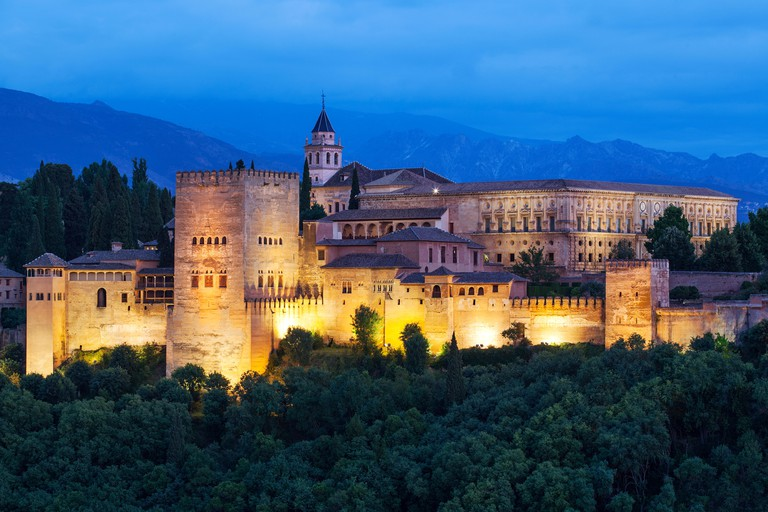 The Alhambra, Granada - Moorish palace Andalucia, Spain