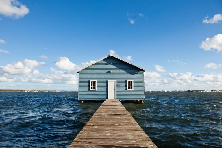 The Crawley Edge Boatshed on the Swan River. Perth, Western Australia, Australia