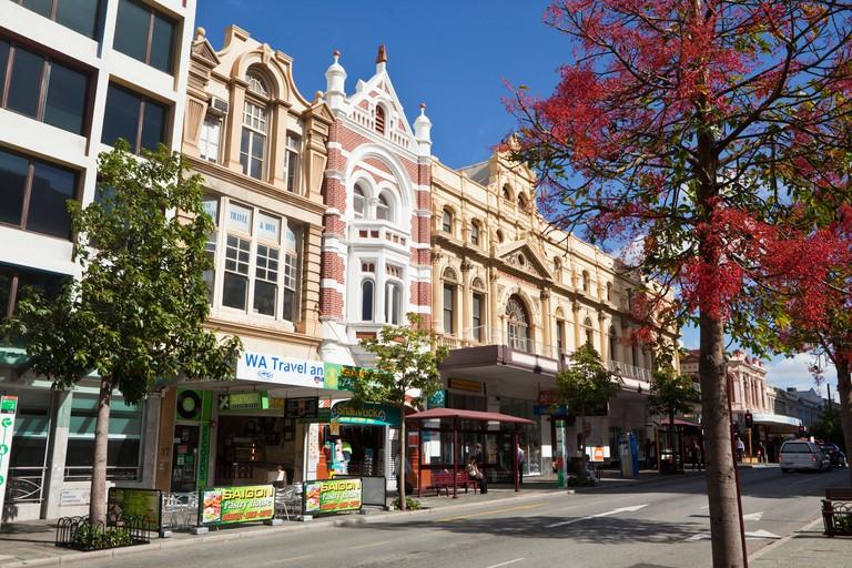 Architecture on Barrack Street. Perth, Western Australia, Australia