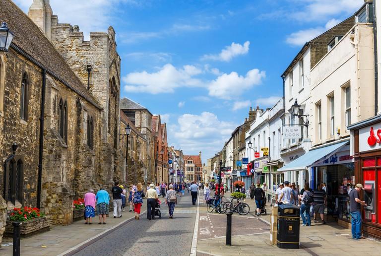 The High Street, Ely, Cambridgeshire, England, UK