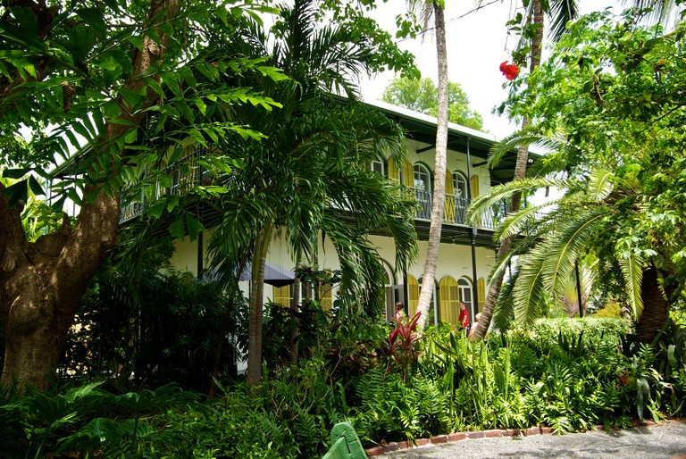 "Lush tree growth around gardens of Ernest Hemingway heritage home museum ""Key West Florida"". Image shot 05/2009. Exact date unknown."