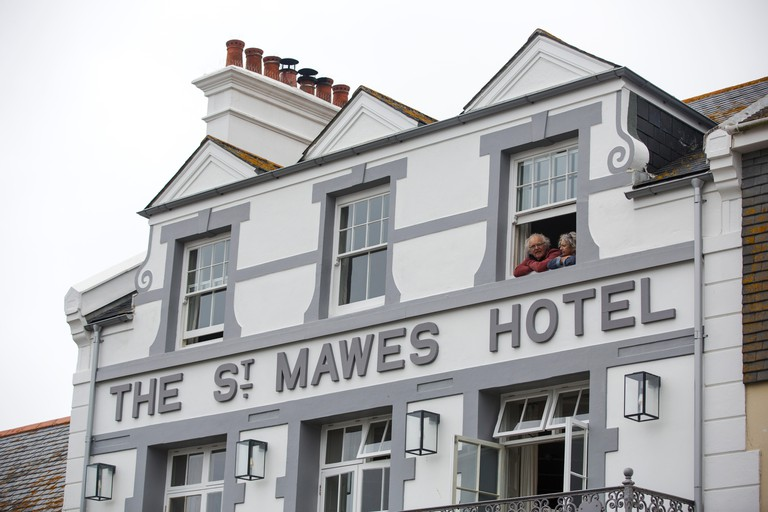 The St Mawes Hotel in St Mawes, Cornwall, UK.