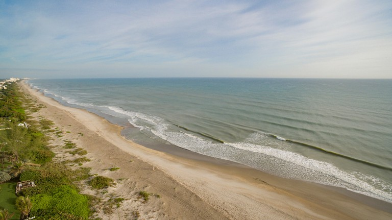 aerial view of Melbourne Beach, Florida