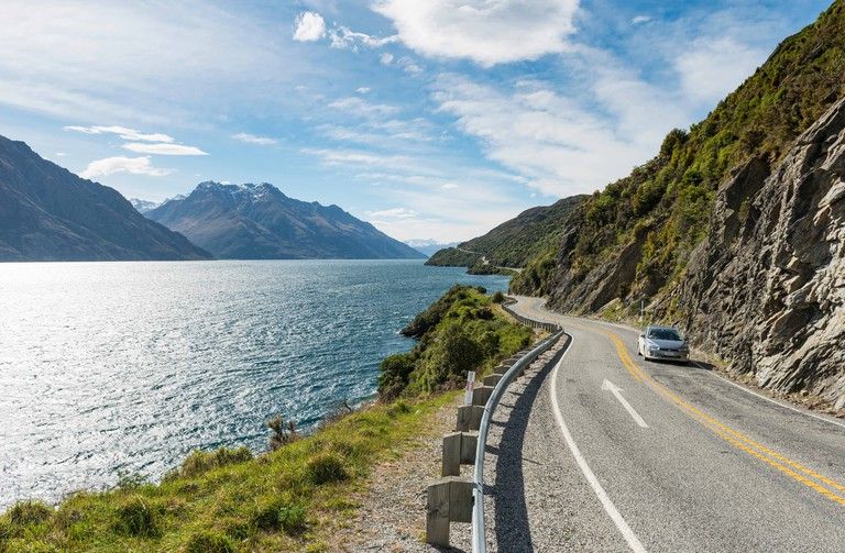 Road from Queenstown on Lake Wakatip