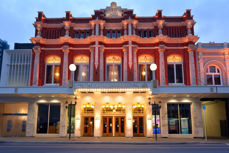 CHRISTCHURCH - DEC 04 2015:Isaac Theatre Royal. It's one of the most intricate rebuilding projects of the 2011 earthquake that damaged Christchurch CBD with an overall rebuild cost of NZ$40M.