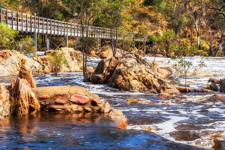 Bridge across Bells Rapids, Swan Valley, Perth, Australia