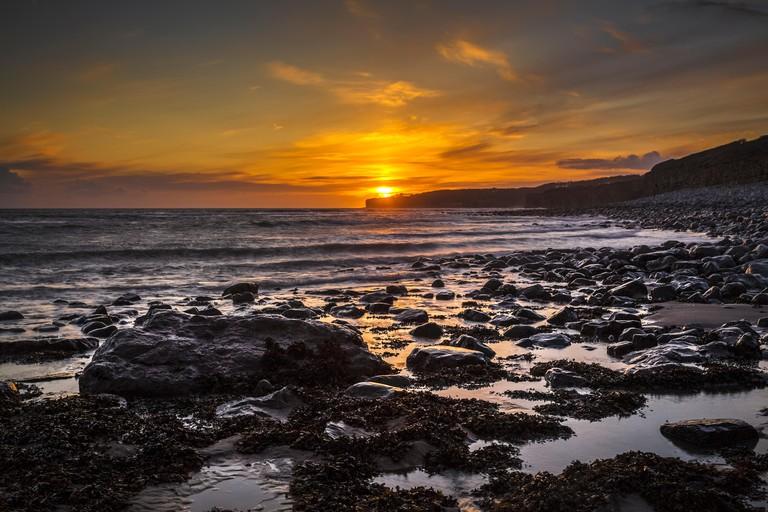 Llantwit Major Beach Glamorgan Heritage Coast UK