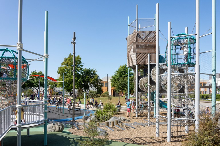 Climbing frame, Margaret Mahy Family Playground, Armagh Street, Christchurch Central, Christchurch, Canterbury Region, New Zealand