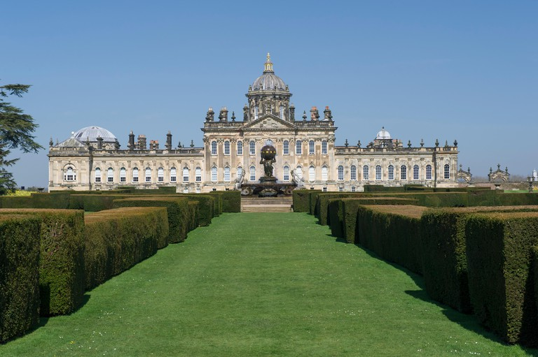 Castle Howard house and gardens which are a popular tourist attraction in North Yorkshire