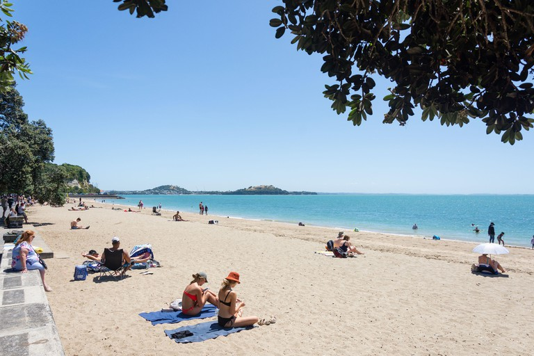 Mission Bay Beach, Mission Bay, Auckland, New Zealand