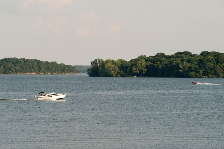 Boats on Old Hickory Lake Nashville Tennessee