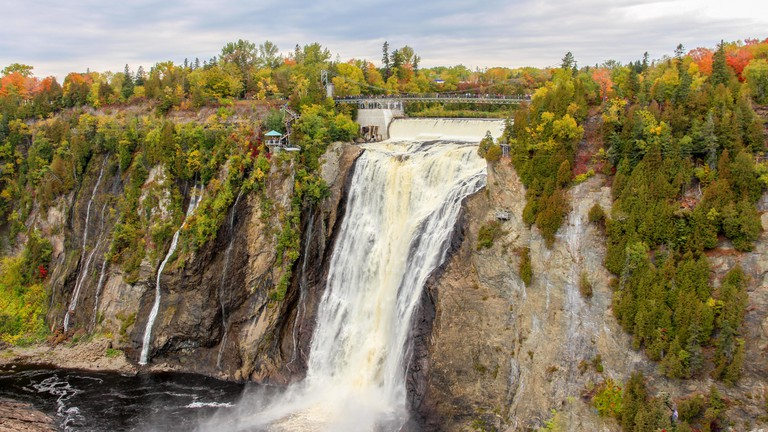 Montmorency Falls in Autumn
