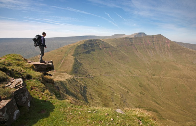 Corn Du Pen y Fan & Cribyn from Fan y Big, Brecon Beacons, Wales, UK