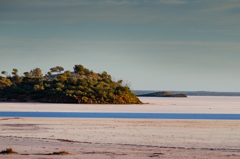 Lake Ballard, a dry salt lake near Menzies in Western Australia