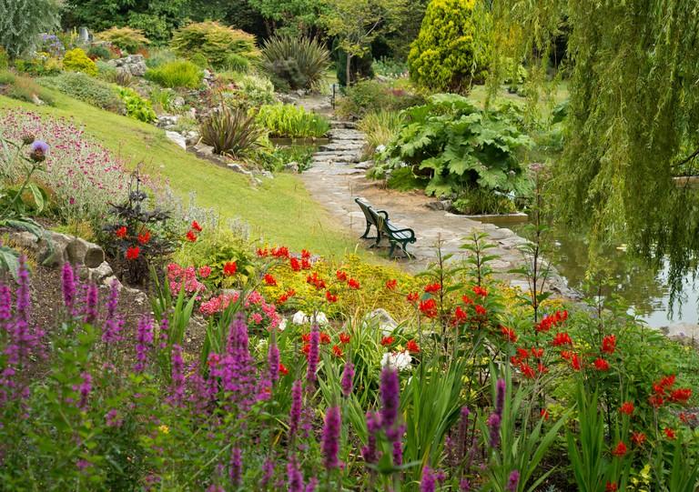 Preston Park Rockery, Brighton, England, UK