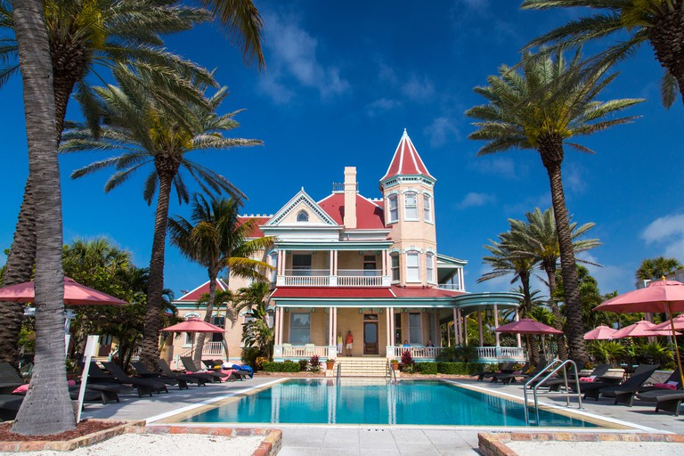 Pool at Southernmost House Inn in Key West, Florida, USA