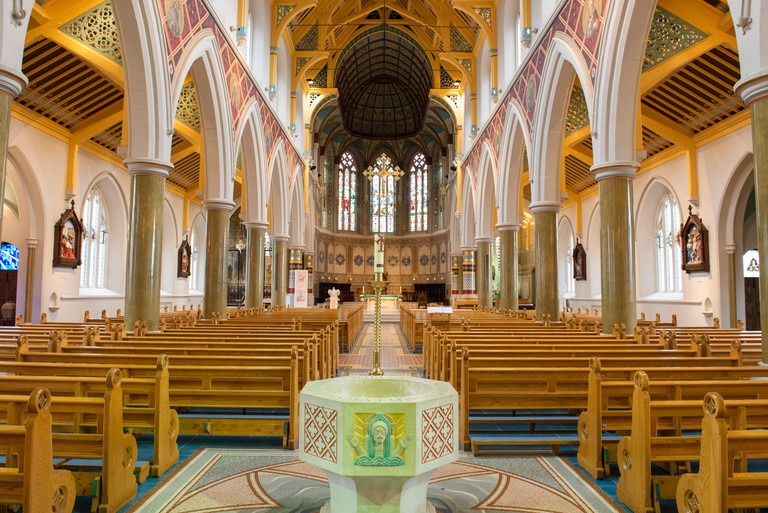 Inside St Anne's Cathedral, Belfast. Image shot 2013. Exact date unknown.