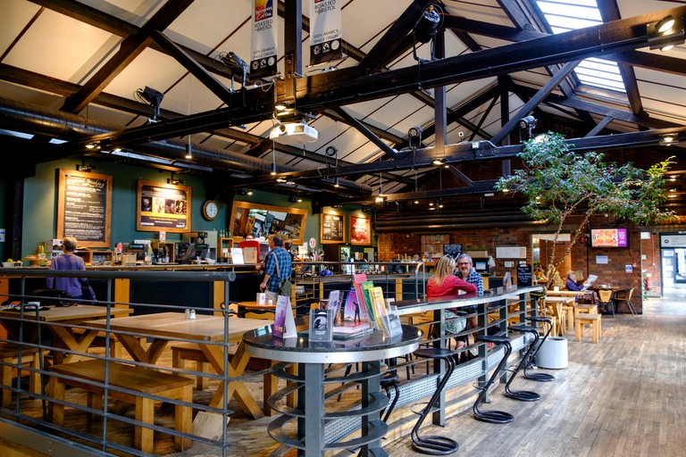 The cafe bar at the watershed, bristol harbourside