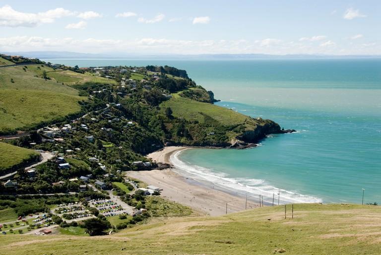 Taylors Mistake beach near Christchurch New Zealand.