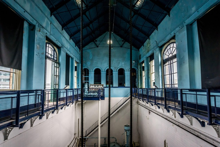Interior view of Titanic?s Pump-House in Belfast, Northern Ireland.