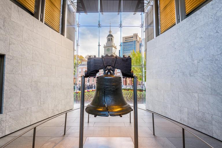 Philadelphia, Pennsylvania, USA at the Liberty Bell.