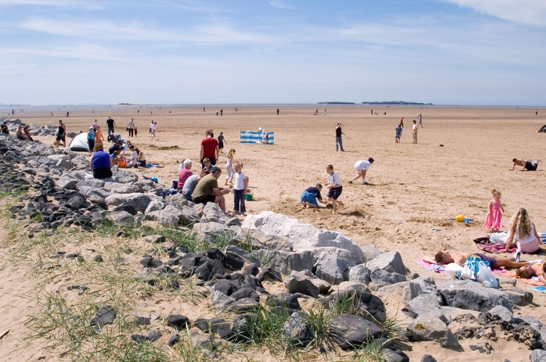 The beach at West Kirby on the Wirral
