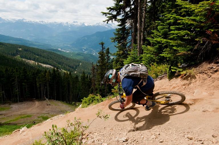 Downhill Mountain Biking in the World Famous Whistler Bike Park