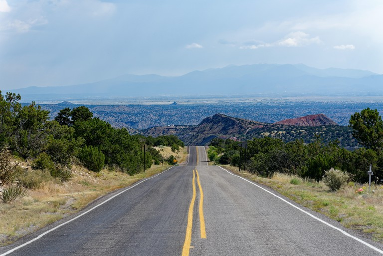 The Turquoise Trail scenic byway between Santa Fe and Albuquerque