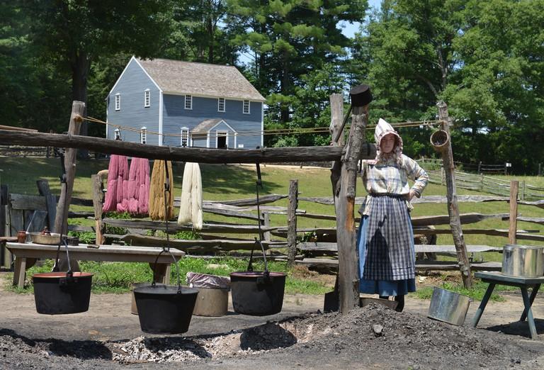 Wollfaerberei, Museumsdorf, Old Sturbridge Village, Massachusetts, USA