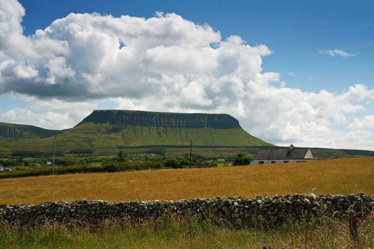 Ben Bulben mountain in County Sligo, Ireland.