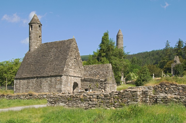 Ireland County Wicklow mountains Glendalough Monastic Site Saint Kevin's Church. Image shot 2007. Exact date unknown.