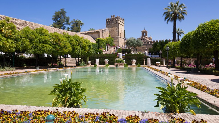 Gardens of the Alcazar de Los Reyes Cristianos, UNESCO World Heritage Site, Cordoba, Andalucia, Spain, Europe