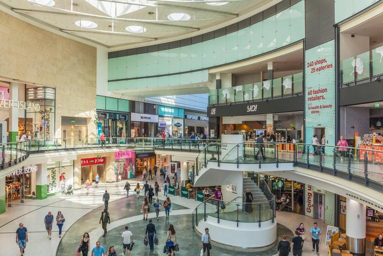 manchester arndale centre inside interior shops and shoppers shopping manchester England Manchester England greater Manchester City centre city center