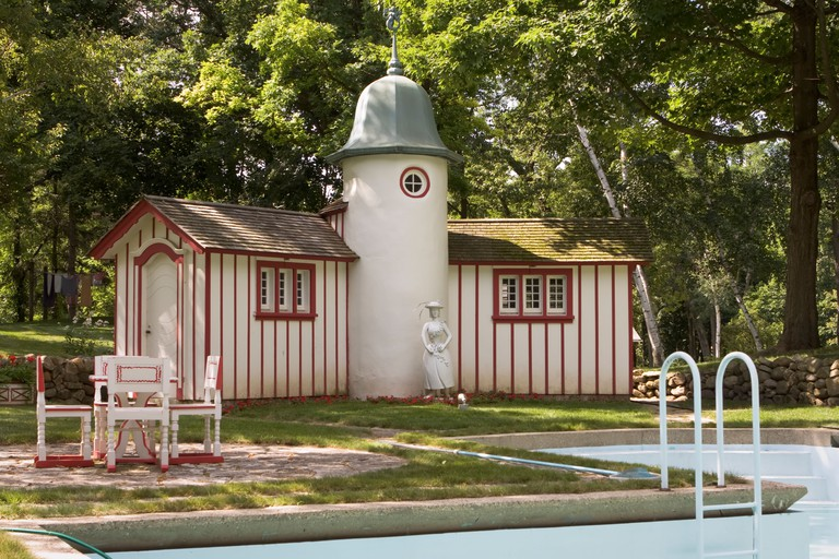 Poolhouse at Ten Chimneys Foundation at Genesee Depot WI USA. Image shot 2008. Exact date unknown.