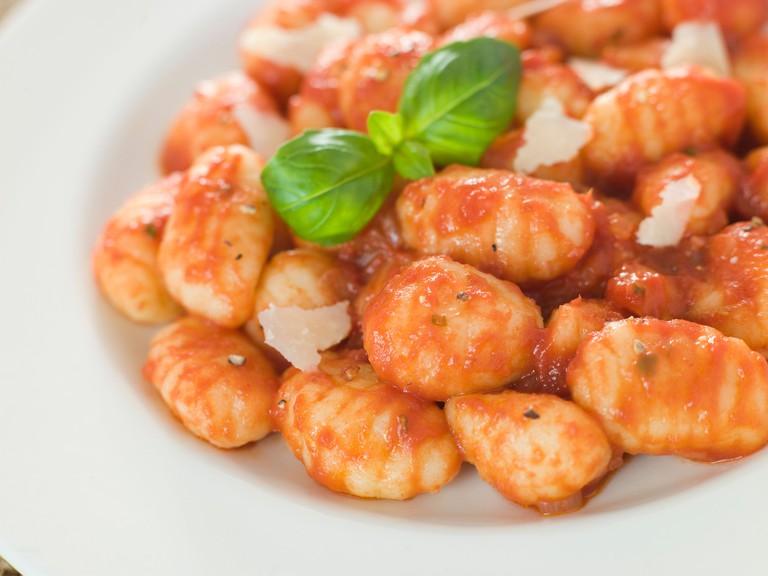 Potato Gnocchi with Tomato Ragu