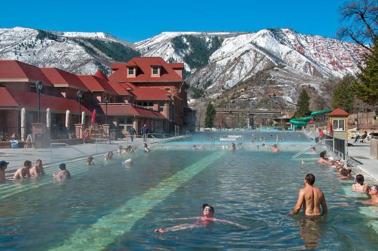 Therapy pool, Glenwood Hot Springs, Glenwood Springs, Colorado.