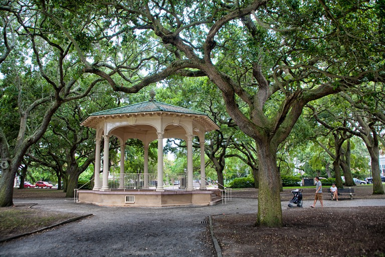 Gazebo in Battery Park and White Point Gardens in Charleston, South Carolina