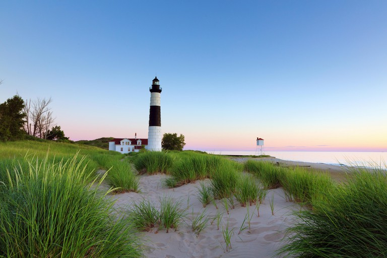 Big Sable Point Lighthouse in Ludington State Park. This is a popular lighthouse on Lake Michigan, available for tours