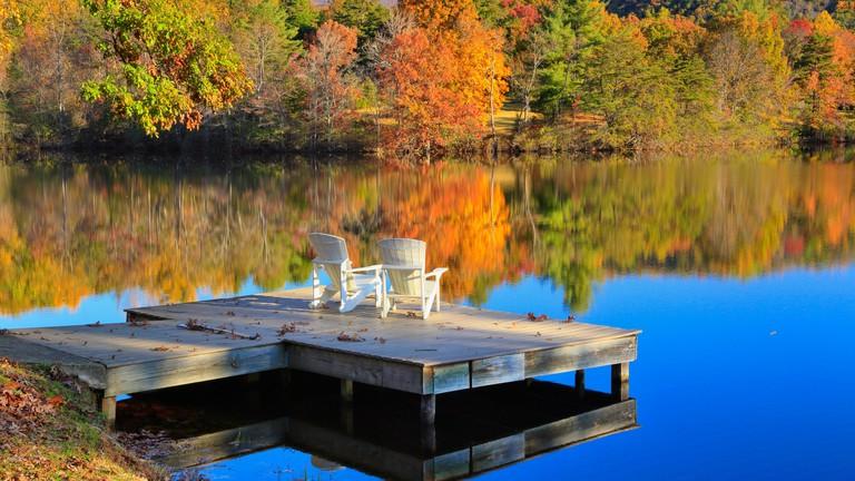 Blue Ridge Lake, Blue Ridge School, Saint George, Virginia, USA