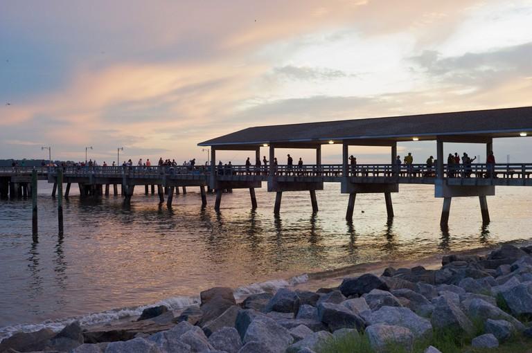 Pier at St. Simons Island Georgia