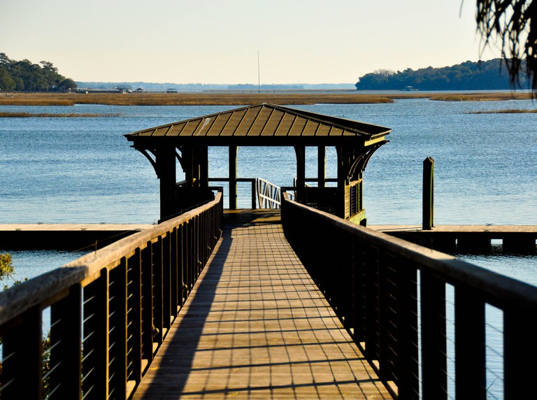 Boat dock Bluffton, South Carolina