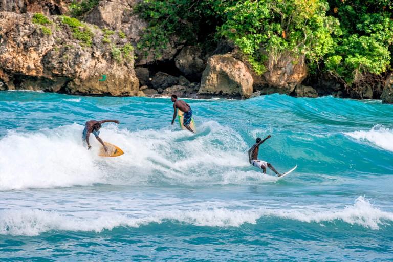 Surfer, Boston bay, watersports, waves, surfing, Jamaica, Jamaika